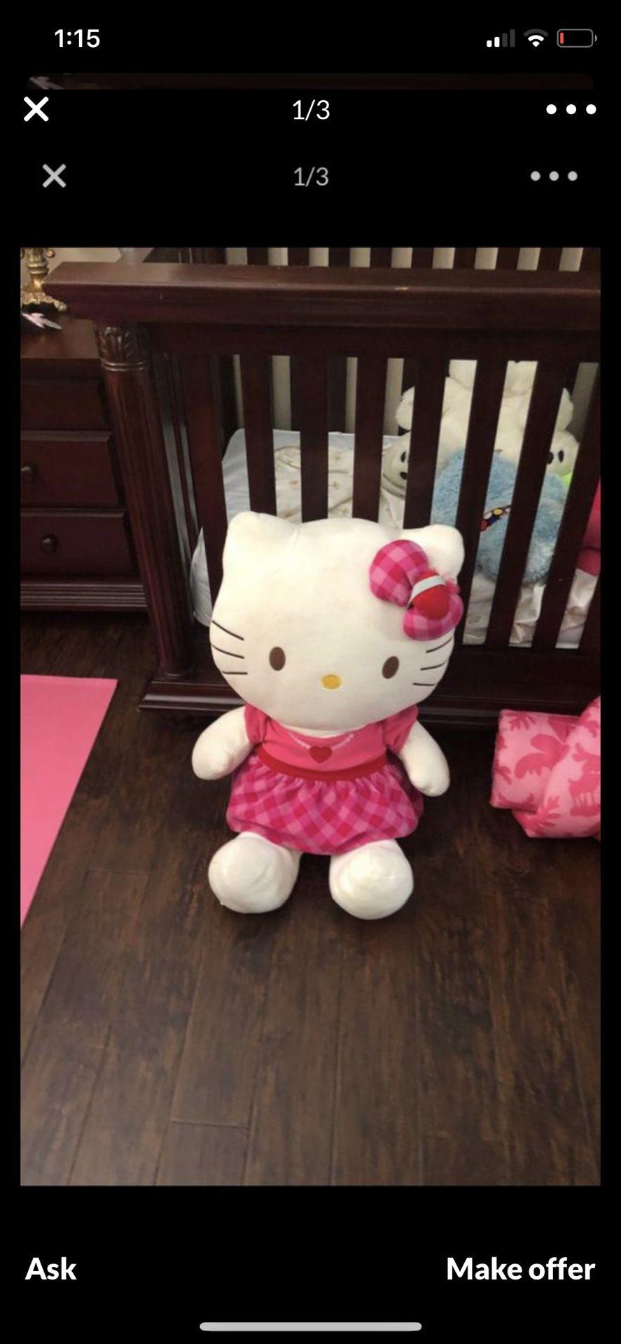 Large hello kitty stuffed character