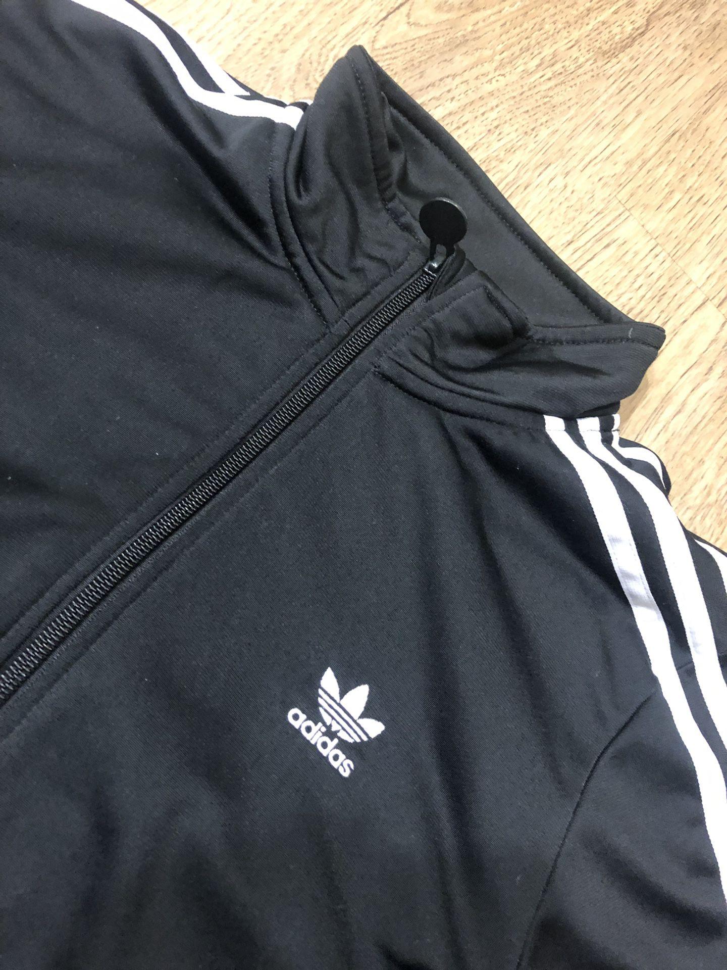 Kids Adidas Black/White Track Jacket Size XL