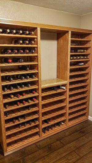 Photo Custom Built Wine Racks with Granite Tasting Bar