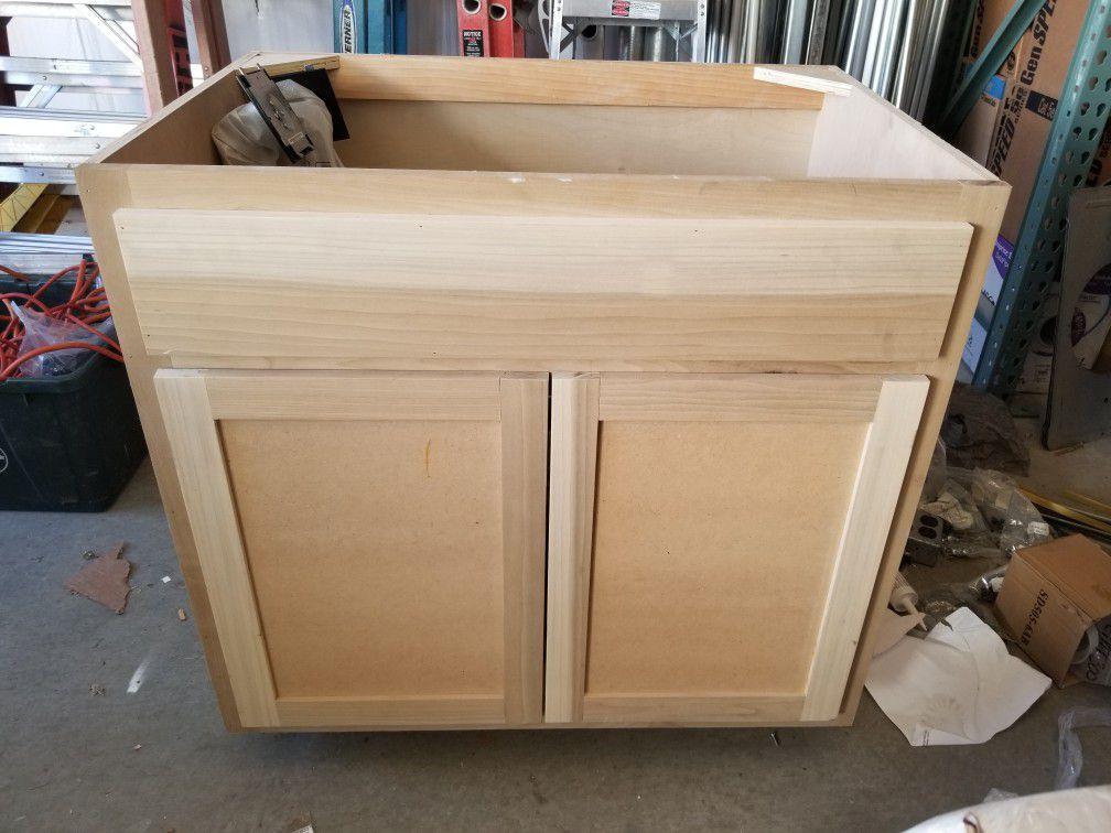 "36"" Sink Base Cabinet Wood"