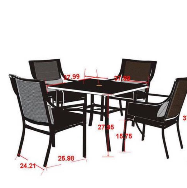 Mainstays Alexandra Square Outdoor Patio Dining Table