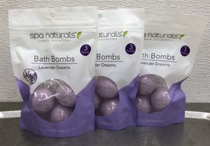 Spa Naturals Bath Bombs Lavender (Lot of 3) for Sale in Hyattsville, MD