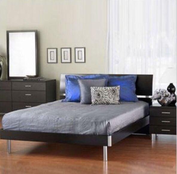Scan Design Bedroom Set Queen Bed Night Stand And Queen