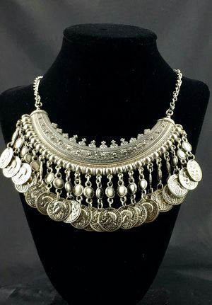 Boho Coin Collar Necklace for Sale in Austin, TX