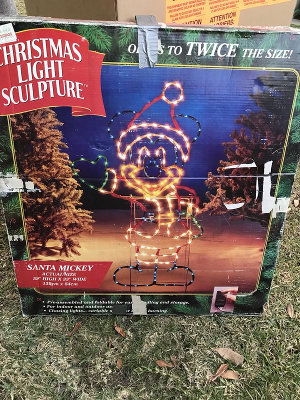 disney mickey mouse christmas decoration lights sculpture outdoor display for sale in monrovia ca offerup
