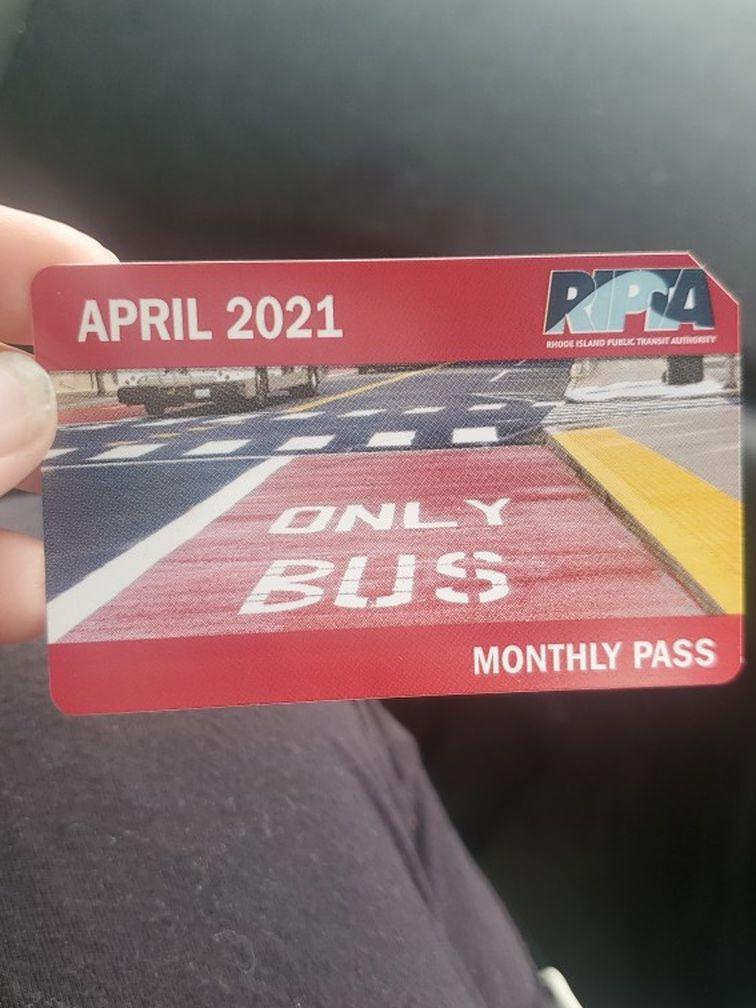 April RIPTA  month pass