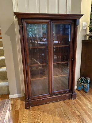 Photo Glass Front Bookcase Bookshelf Shelf