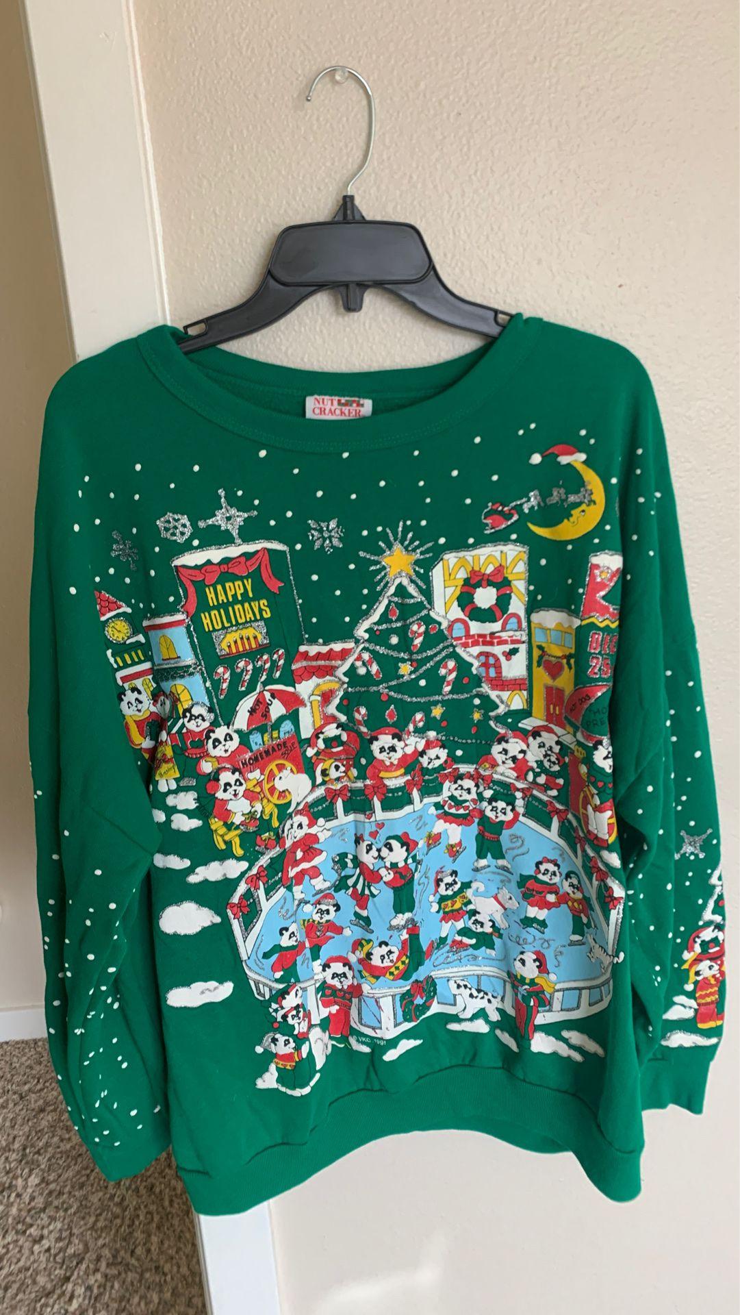 Cute Funny Panda Christmas Sweater