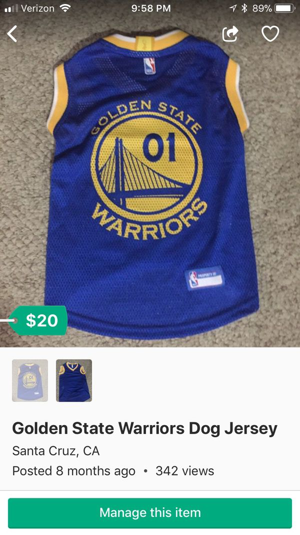 timeless design 0b7a9 f5884 Golden State Warriors Dog Jersey for Sale in Vancouver, WA - OfferUp