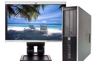 HP DC7900 PC computer desktop tower Core 2 Duo 3.0 GHz 4 GB Windows 10 . WiFi+ monitor for Sale in Allen Park, MI