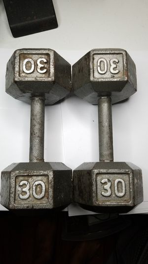 A pair of 30 pound weights 30 lbs 60 lbs total for Sale in Baltimore, MD