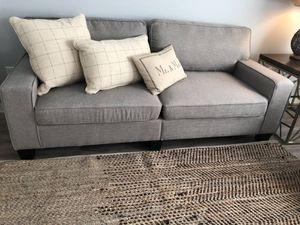 Like new gray linen sofa!! for Sale in Orlando, FL