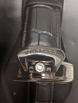 Stuhrling Emperor's Grand DT 3920 Automatic 46mm Skeleton in excellent condition Thumbnail