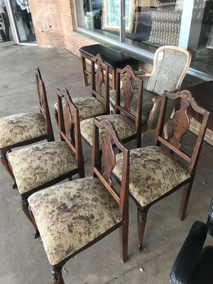Vintage Oak Chairs - Set of 6 for sale  Tulsa, OK