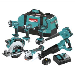 Model XT706 Makita 18V LXT Lithium-Ion Cordless 7-Pc. Combo Kit for Sale in Holly Springs, NC