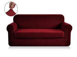 Sofa Slipcover, Jacquard Polyester Spandex (Sofa, Wine) for Sale in Hollywood, FL