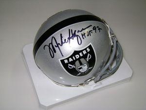 Signed Mike Haynes NFL Oakland Raiders mini helmet for Sale in Dundalk, MD