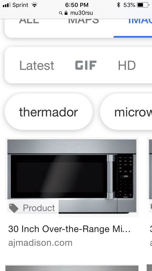 30 Over Range Thermador Microwave New In Box Liances Phoenix Az Offerup