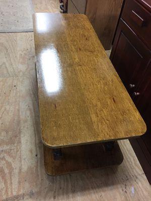 "Nice hardwood Coffee Table 17 1/2""tall 4'long18""deep,sturdy good condition for Sale in Waynesboro, VA"