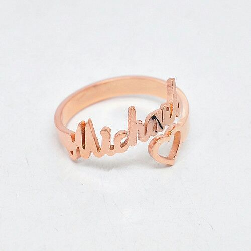 14k Rose Gold Any Name In This Design Jewelry Accessories In