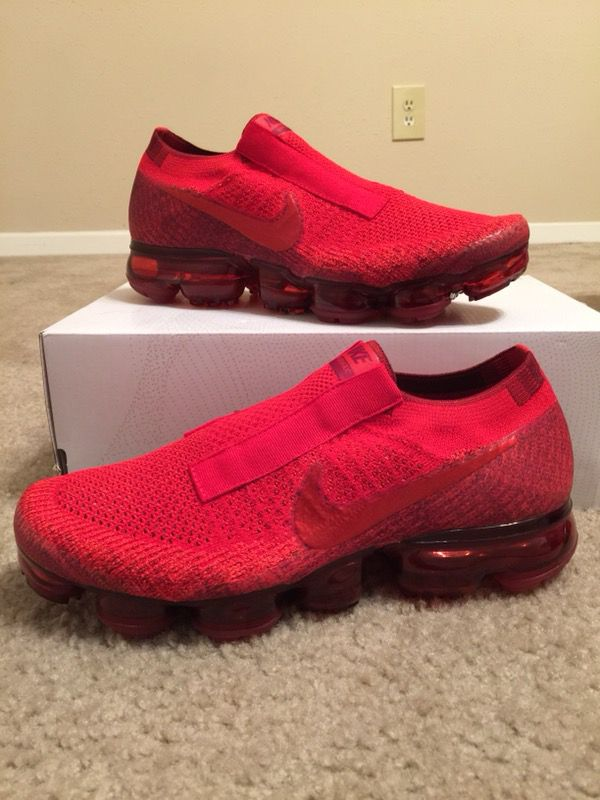 9bcc56bc66c Brand New Size 8 Men s Nike Air Vapormax Flyknit ID University Red Laceless
