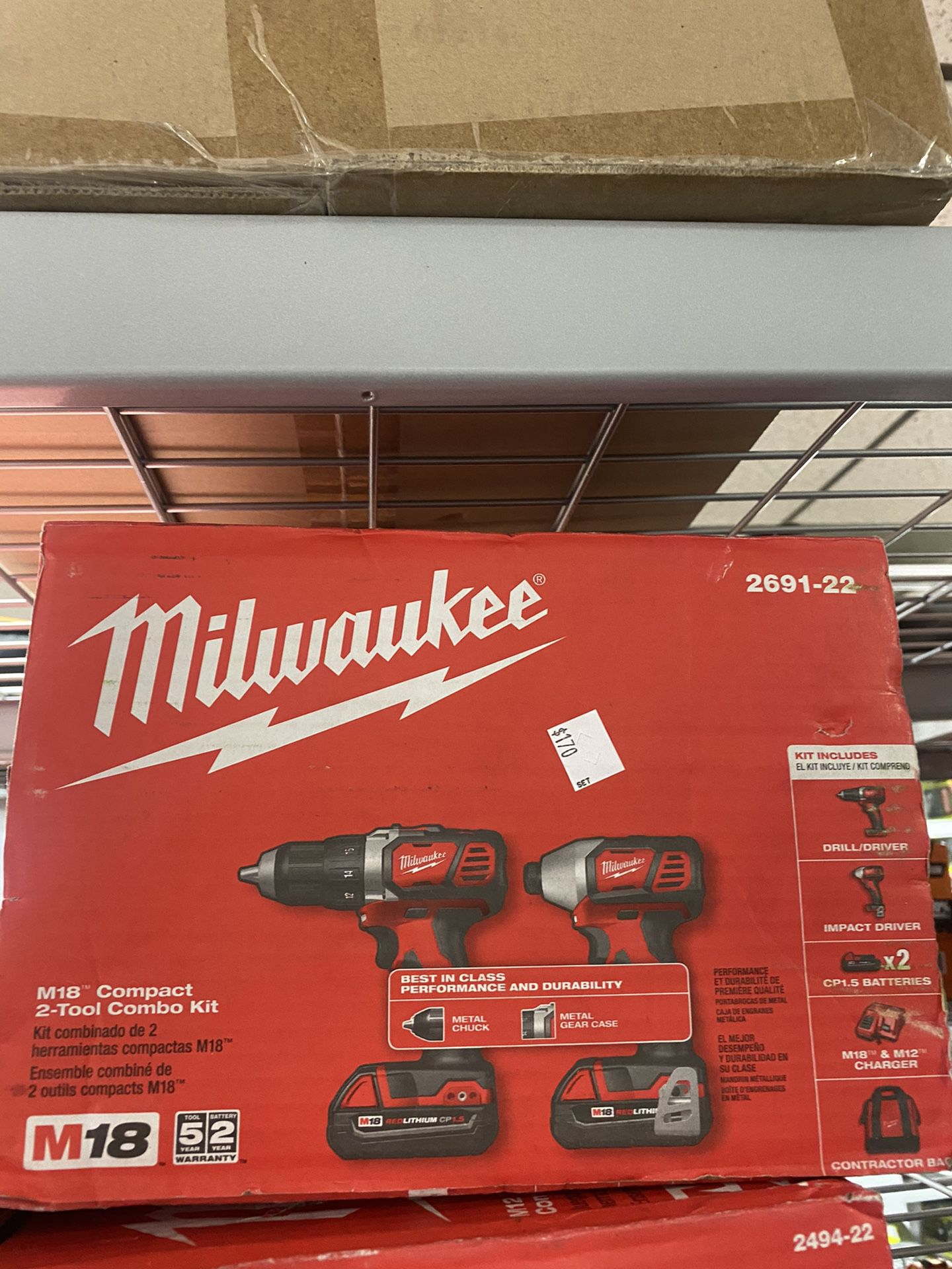 New M18 Milwaukee 2- Tool Combo (only $170)