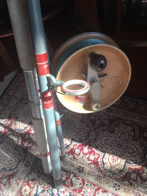 Australian surf caster reel and 14' rod for Sale in Chicago, IL