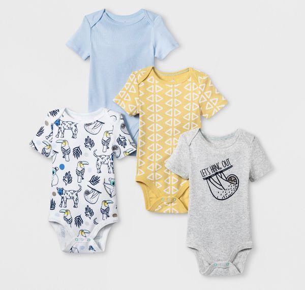 American Flag with Bronx New York City Newborn Kids Long Sleeve Infant Bodysuit Onesies