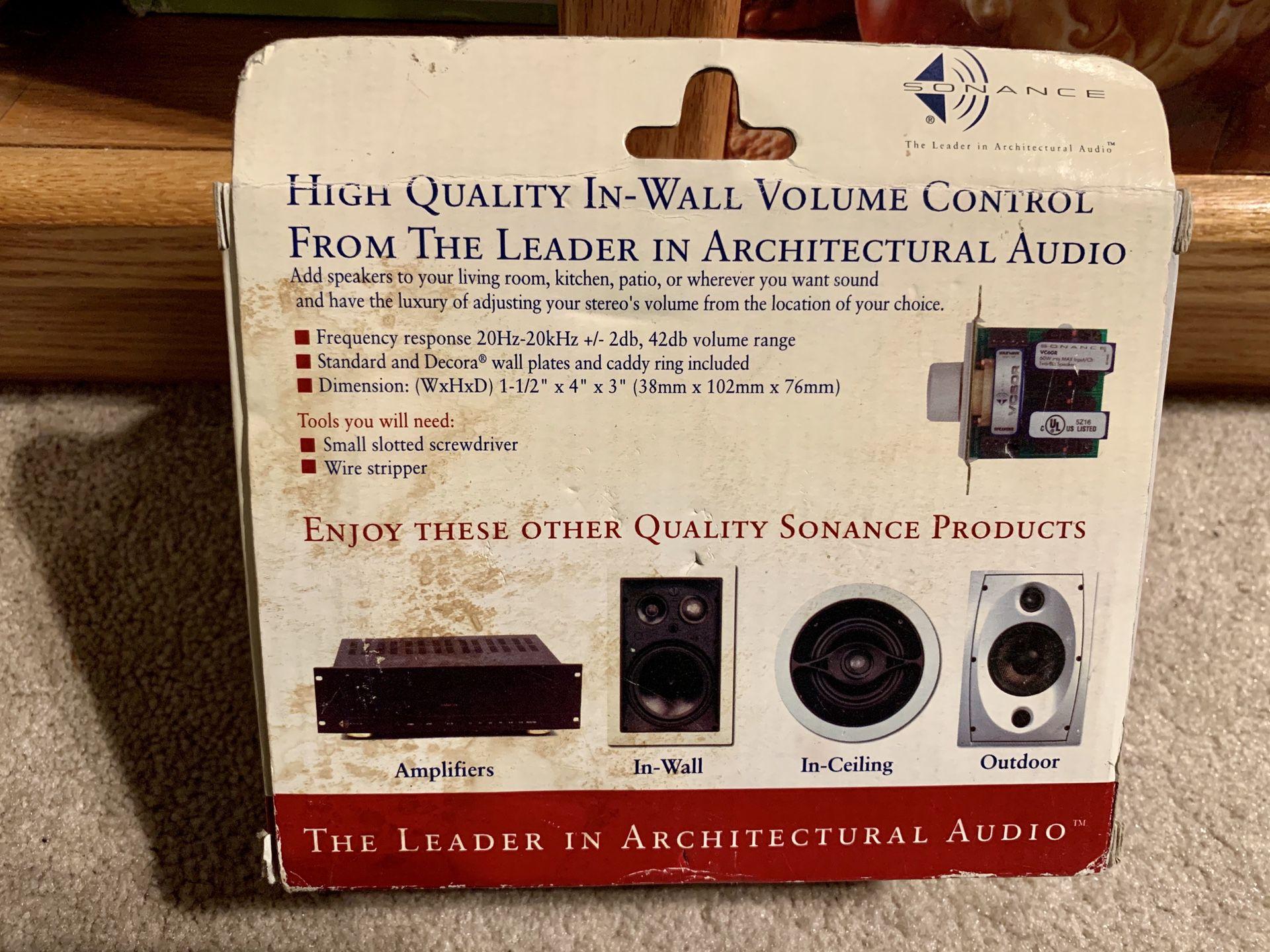 SONANCE 60 watt IN-WALL STEREO VOLUME CONTROL