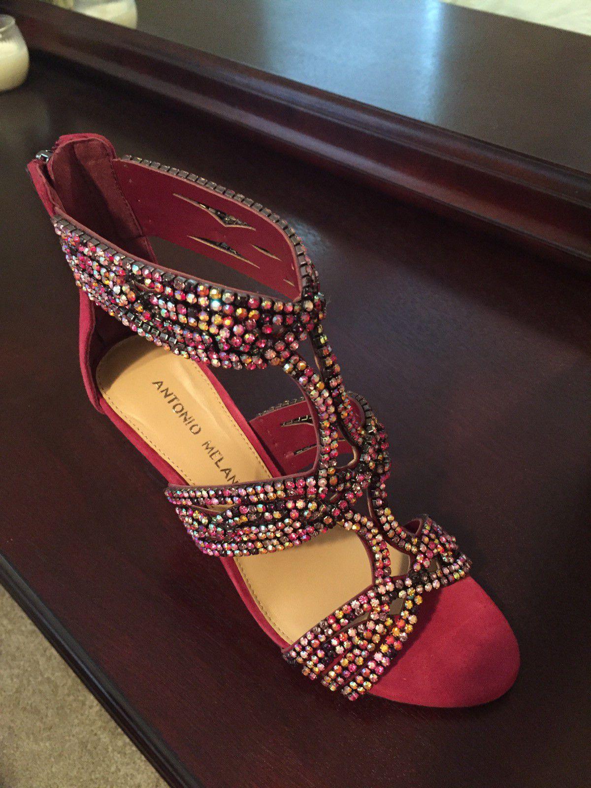 Size 6.5 Mulberry Antonio Melani Vero Cuoio Heeled Sandals.