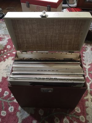 Classic Vinyl Records with storage case for Sale in Washington, DC
