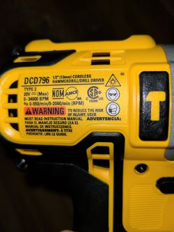 "Brand New Dewalt 20v. XR 1/2"" Hammer Drill Tool Only Thumbnail"