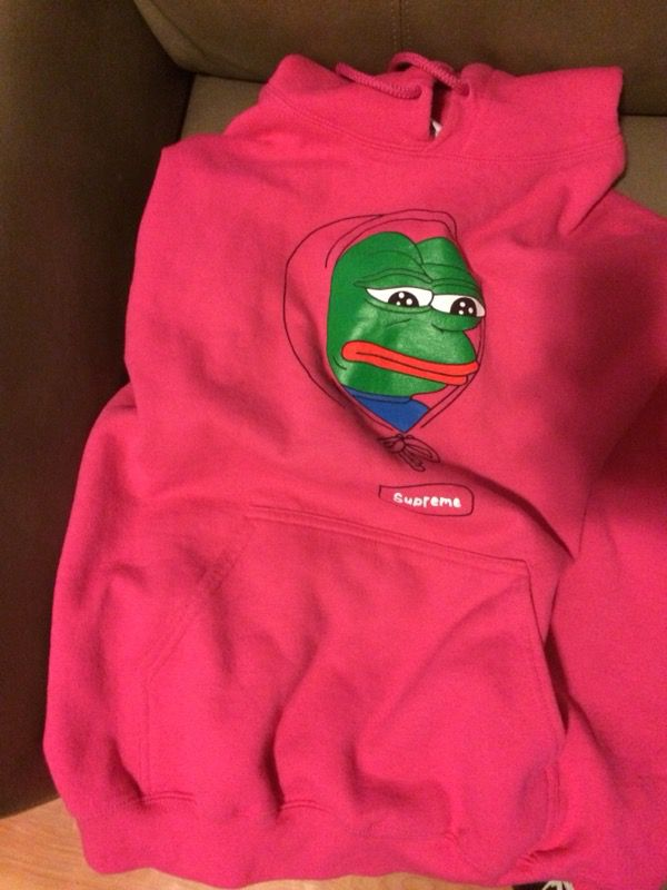 Supreme Pepe The Frog Hoodie For Sale In Bayonne Nj Offerup