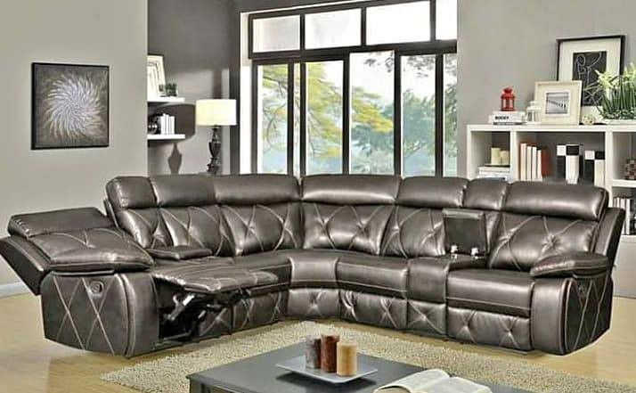 Reclining sectional sofa brand new