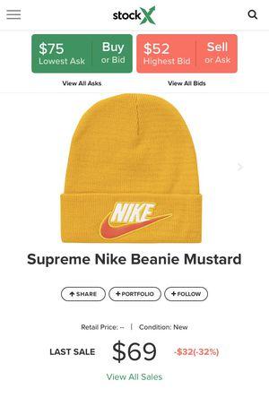 Photo Nike • supreme yellow beanie
