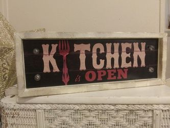 Vintage Light Up Marques Kitchen OPEN Sign Thumbnail