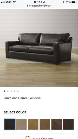 Crate & Barrel Leather sofa for Sale in Washington, DC