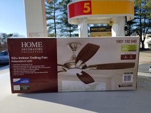 Two Home Decorators Collection Petersford 52 in. Ceiling Fan LED for Sale in Washington, DC