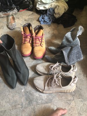 Shoes- timberland, Kanye adidas, booties for Sale in San Francisco, CA