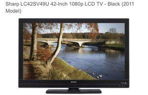 "**Good Condition** Sharp 42"" 1080p TV (2011 Model) for Sale in Centreville, VA"