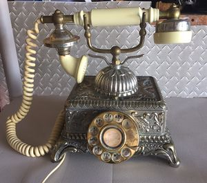 Vintage French Glamour Rotary 70's Ornate Phone WORKS! for sale  Tulsa, OK