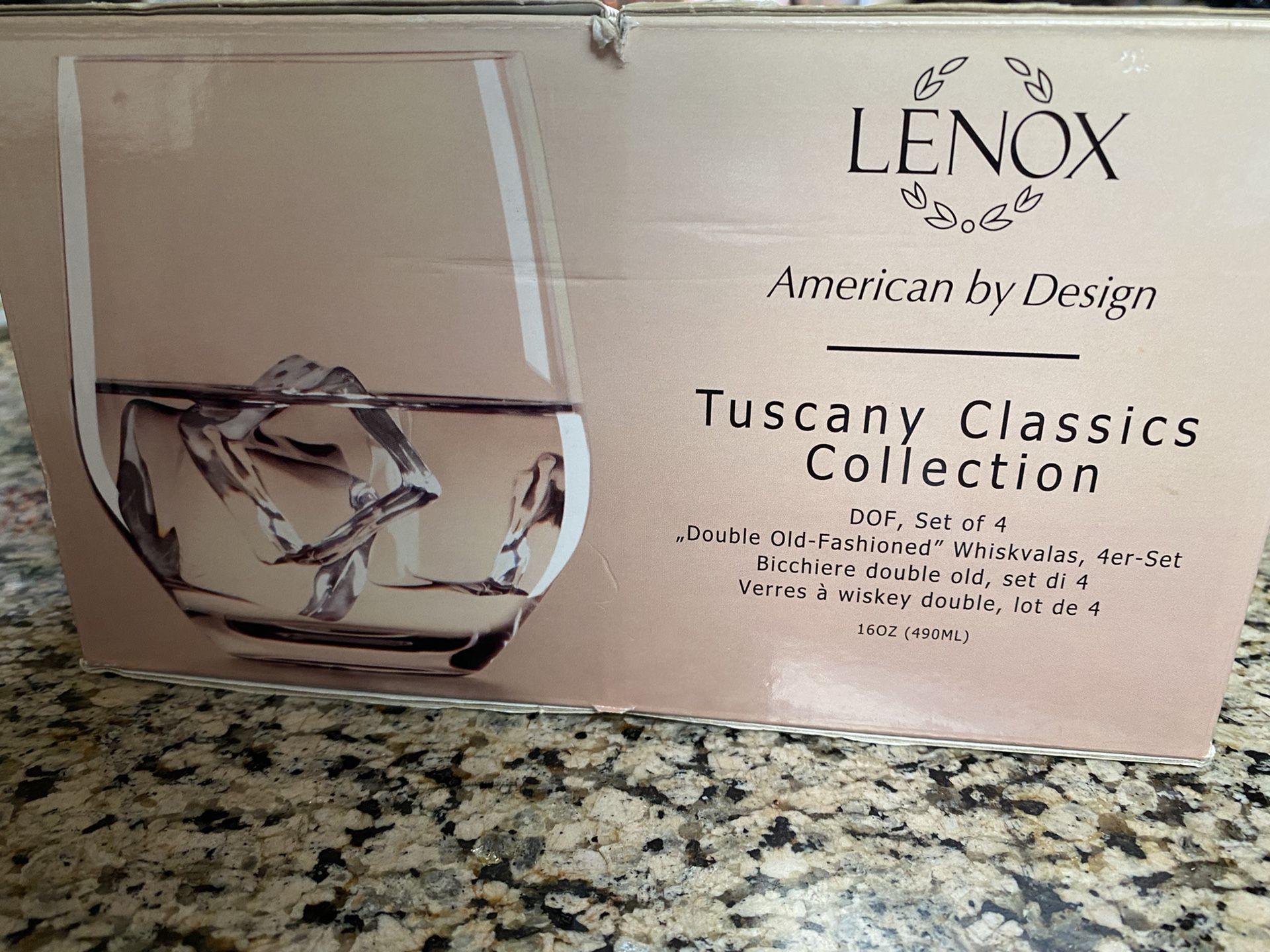 New in box Lennox glasses
