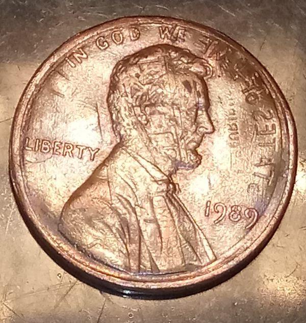 1989 Penny Error Coins
