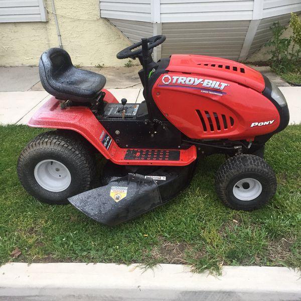 Troy Bilt 8 Speed Pony Riding Lawn Mower Tractor Starts