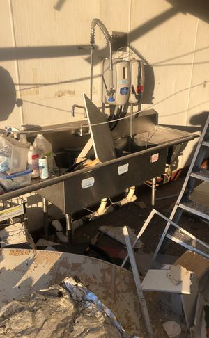3 compartment stainless sink for Sale in Amherst, VA