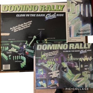 Photo Domino Rally Glow in the Dark Ghost Rider. $20 Pkgs.open but appears not used . Oakland porch