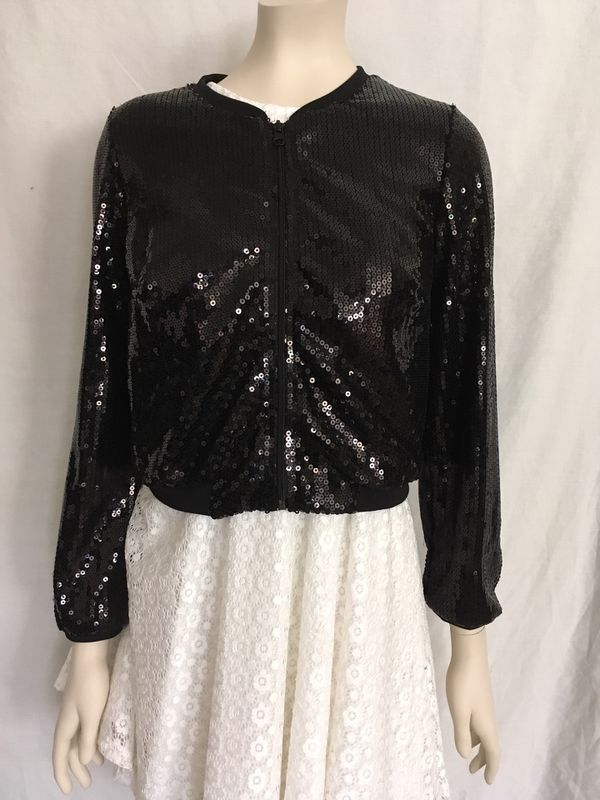 abbe442cf69 H M black sequin jacket women s size 8 for Sale in Phoenix