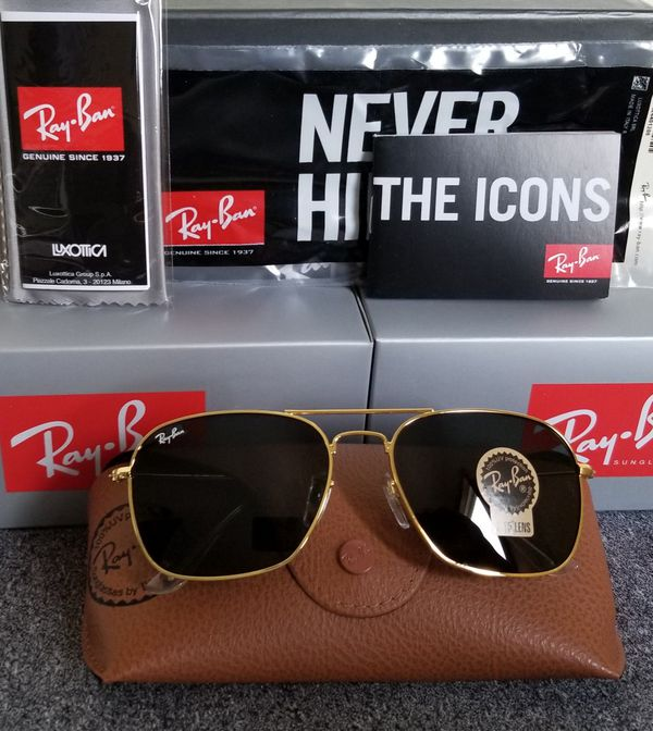 079d410e4ac Ray-Ban Caravan RB3136 Gold Black for Sale in Everett