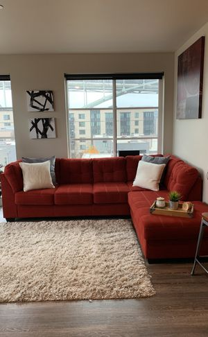 Beautiful Red Sectional Couch For In Portland Or