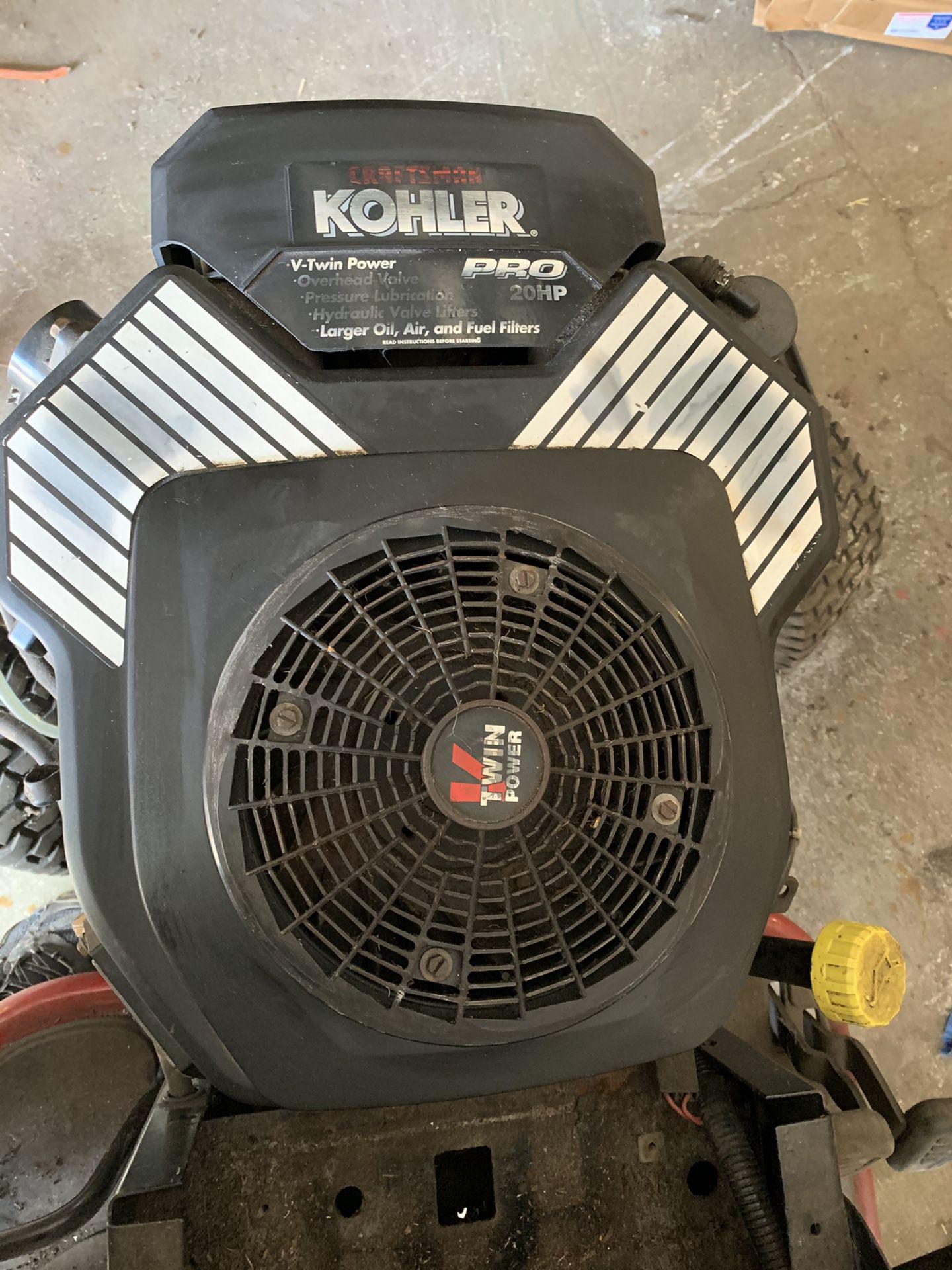 Photo Like New 20 Hp Kohlor Command Pro V Twin Engine